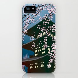 Night at the Pagoda iPhone Case
