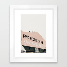 same wave ii Framed Art Print