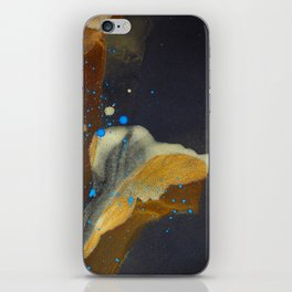 joelarmstrong_rust&gold_flower iPhone Skin