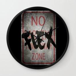 No Flex Zone Sign Wall Clock