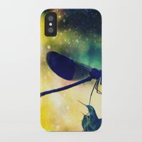 dragonfly iPhone & iPod Cases featuring Dragonfly by Luiza Lazar