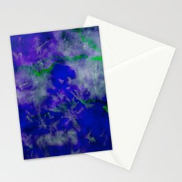 Bright Blue Watercolor Abstract Stationery Cards