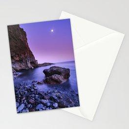 Moonrise. Del Medio beach. La Gomera Island Stationery Cards