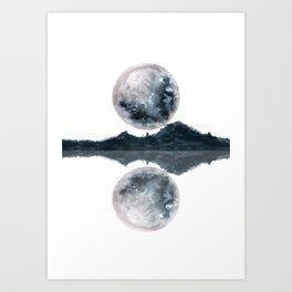 Caught Between the moon Art Print