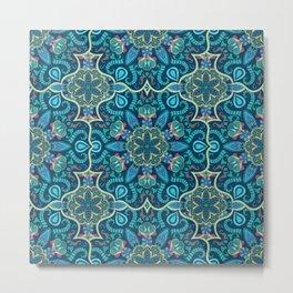 Colorful vintage mandala seamless pattern Metal Print