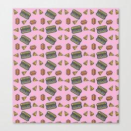fast food pink Canvas Print