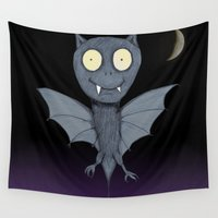 bat Wall Tapestries featuring Bat by Bwiselizzy