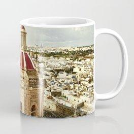 An aerial shot of the Parish Church of Saint Catherine, Zejtun Malta Coffee Mug
