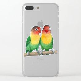Fischer's lovebirds Clear iPhone Case