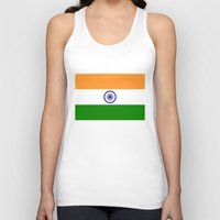 islam Tank Tops featuring Flag of India - High quality authentic HD version by Bruce Stanfield
