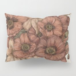 Poppies and Lilies Pillow Sham