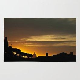 Roma, tramonto   Rome, sunset Rug