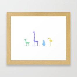 Animal Collection Framed Art Print