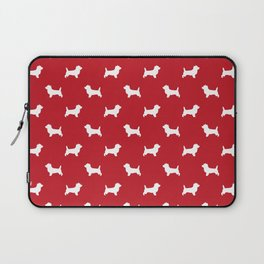 Cairn Terrier dog breed red and white dog pattern pet dog lover minimal Laptop Sleeve