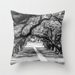 Louisiana Path Through the Oaks Throw Pillow