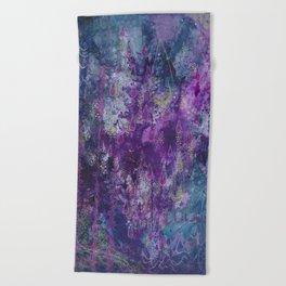 nocturnal bloom Beach Towel