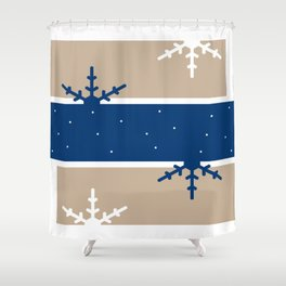 A hint of Christmas (Blue) Shower Curtain