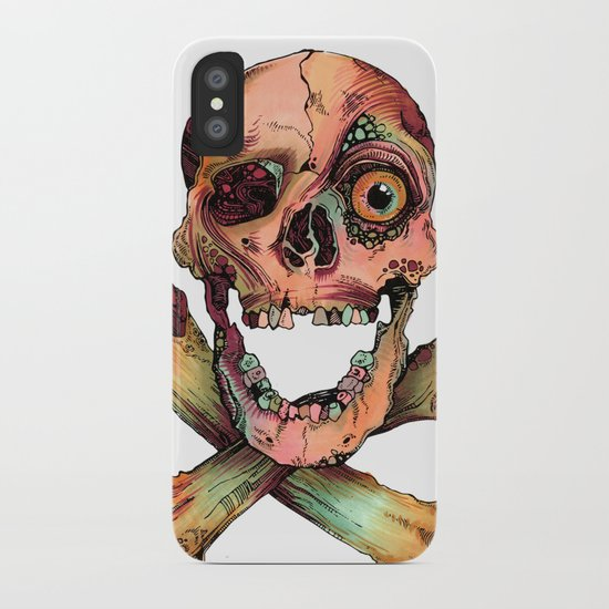 Skull in Color iPhone Case