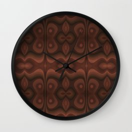 Wavy Pattern in Brown Wall Clock