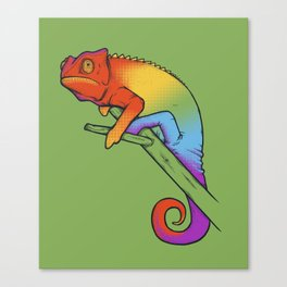 Confused chameleon Canvas Print