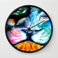 patrick Wall Clocks featuring Patrick  by DUCKXFACE