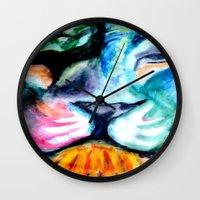 patrick Wall Clocks featuring Patrick  by Aoibhergé Co.