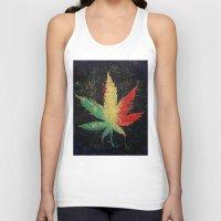 marijuana Tank Tops featuring Marijuana by Michael Creese