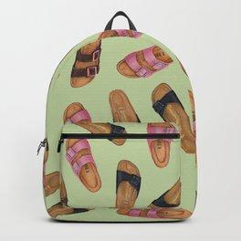 Birkenstock Pastel Green Pattern   Watercolor Pattern design   Shoes pattern   Shoes design Backpack