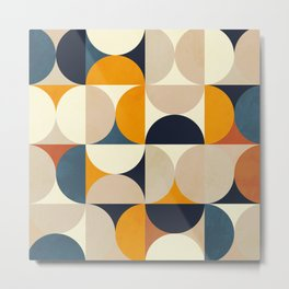 mid century abstract shapes fall winter 1 Metal Print