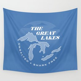 The Great Lakes - Unsalted & Shark Free (Inverse) Wall Tapestry