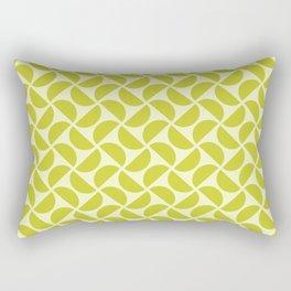 HALF-CIRCLES, CHARTREUSE Rectangular Pillow