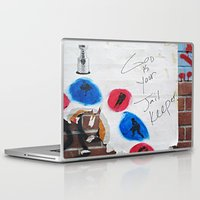 hockey Laptop & iPad Skins featuring Hockey Prayer by Ethna Gillespie