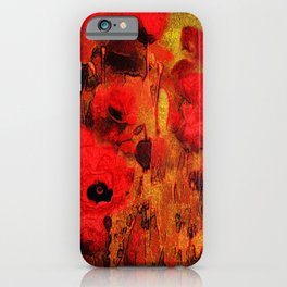 FLOWERS - Poppy reverie iPhone Case