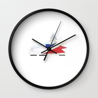 nike Wall Clocks featuring NIKE PAPERCUT by whosyourdeddy