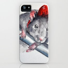 Rat in a bow iPhone Case