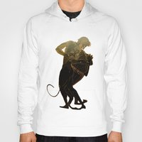 hercules Hoodies featuring Hercules and The Nemean Lion by taiche