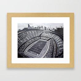 Chicago Bears Soldier Field Framed Art Print