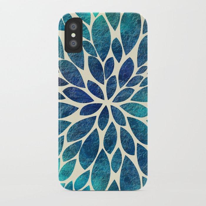 Petal Burst - Turquoise iPhone Case