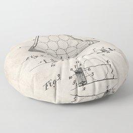 Pool Patent - Billiards Art - Antique Floor Pillow