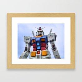 Gundam Stare Framed Art Print