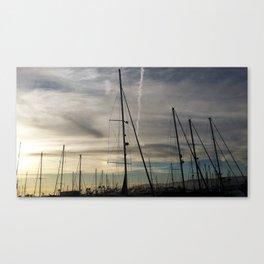 Bird on a mast Canvas Print