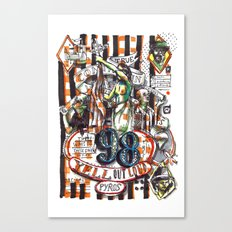 98 Yell Out Loud Canvas Print