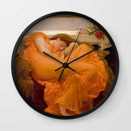 FLAMING JUNE - FREDERIC LEIGHTON Wall Clock