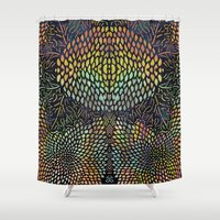 tree of life Shower Curtains featuring Tree of New Life by Klara Acel