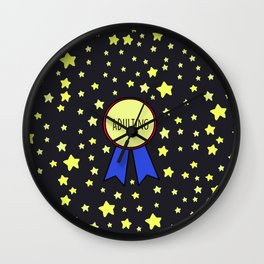 Adulting Award Wall Clock