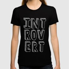 Introvert II Womens Fitted Tee Black LARGE