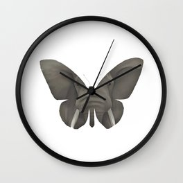 Elephant Butterfly Wall Clock