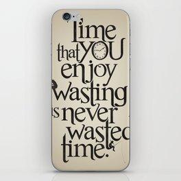 Wasting Time iPhone Skin