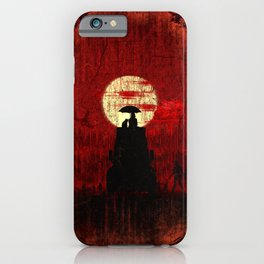 Unbrella, Girl, Cat and Zombies iPhone Case
