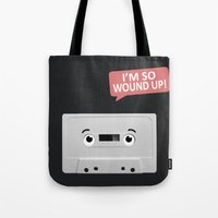 cassette Tote Bags featuring Cassette by Dylan Morang